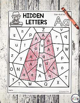 Hidden Alphabet Letters! What a fun way to learn upper and lowercase letters. These would be a great preschool or kindergarten activity!