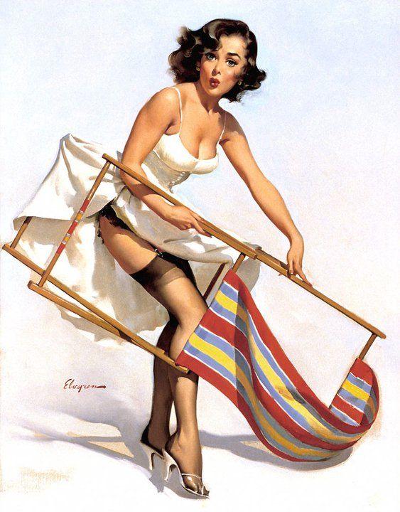 Vintage Pin Up Girl Illustration | Pin-Up Girls |  #PinUp #Art #Vintage  #Illustration