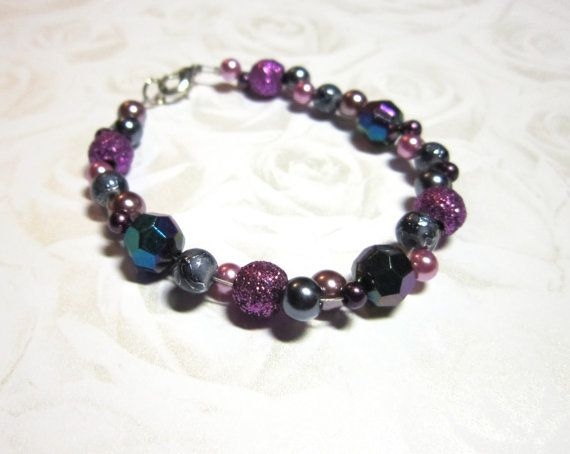 HoT Jewellery - Sparkly purple bracelet