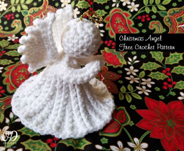 Christmas Angel Free Crochet pattern Oombawka Design, X-mas, decoration, #haken, gratis patroon (Engels), Kerstmis, Engel, decoratie, #haakpatroon