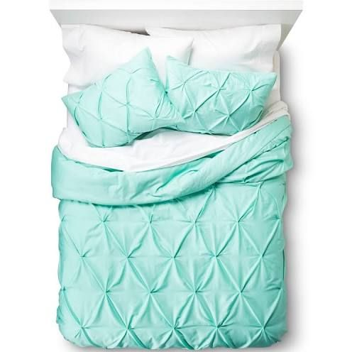 teal and coral bedding