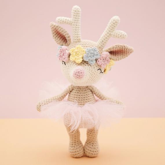 Amigurumi Crochet Pattern English Ginger The Reindeer Deer