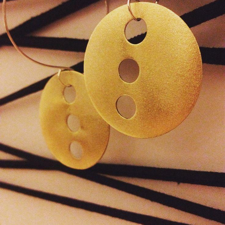 Brass gold plated earrings