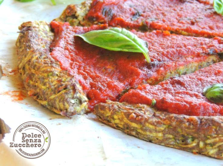 Pizza con le Zucchine (Senza Farina)| Dolce Senza Zucchero