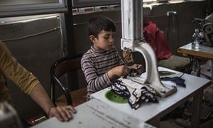 This article by The Guardian talks about how a Syrian refugee who is 13 years old is working in Turkey to help provide for his family instead of going to school. I chose this article because it shows the gravity of the sacrifices refugees must make in order to have the necessary income to support their families. This is relevant to my topic because it shows how the lack of jobs for refugees can lead to denying young children their education.