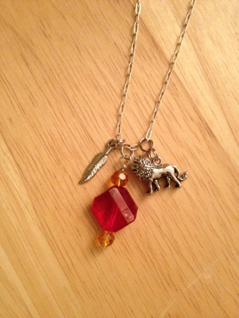 Harry Potter Gryffindor Charm Necklace by elizagolightly on Etsy, $11.00: Charms Necklaces, Gryffindor Charms