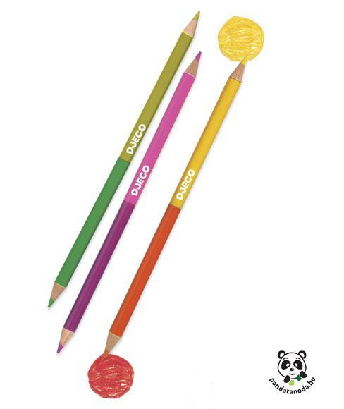Duplavégű ceruza készlet 12 db - 24 szín Djeco Double ended pencils | Pandatanoda.hu Játék webáruház