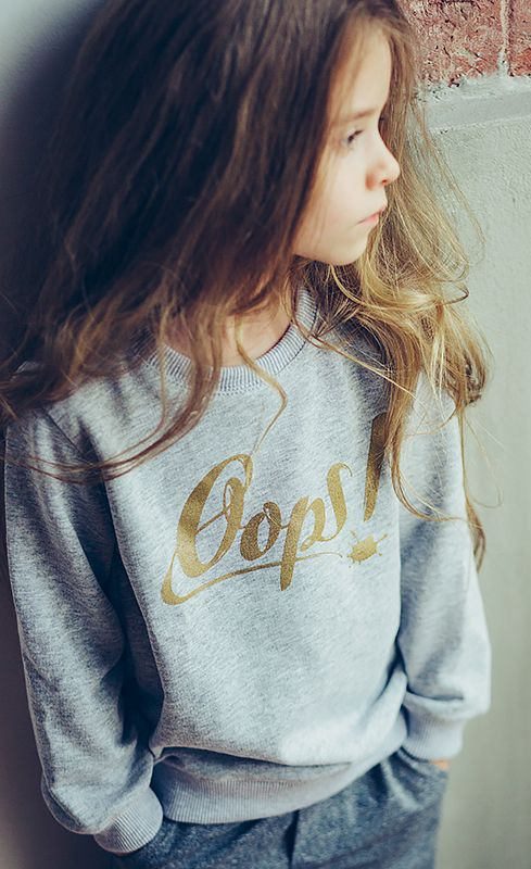 New 'GOLD sweatshirt' (melange) in stock! Check it out: http://oopswear.com/en/sweatshirts/22-gold-sweatshirt-melange.html #kids #fashion #fashionkids