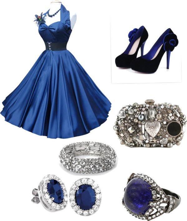 """""""Glamour of the 50's"""" by perezjes ❤ liked on Polyvore"""