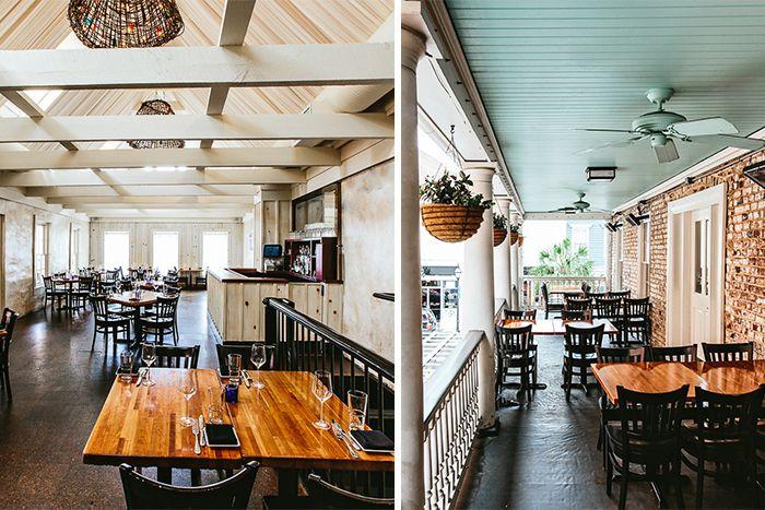Rehearsal dinner space at Fish Restaurant in Charleston, South Carolina | Rehearsal dinner inspiration | Photos by Andrew Cebulka