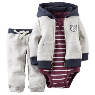 """Baby Boy Carter's """"Handsome Like Daddy"""" Hooded Cardigan Set"""