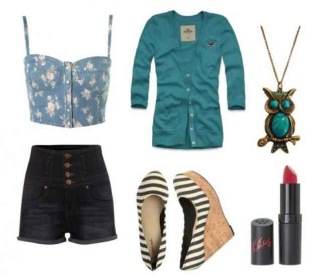 How to Wear High Waisted Shorts - College Fashion