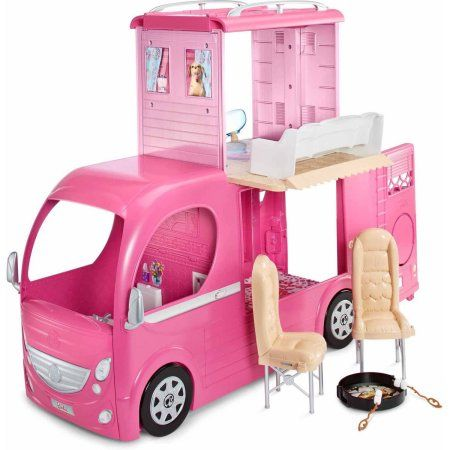 Barbie Pop-Up Camper Playset Image 14 of 21
