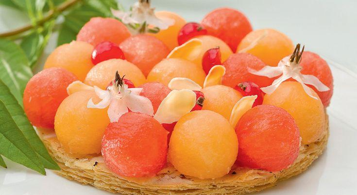 Recette d'été : tartelette au melon et à la pastèque