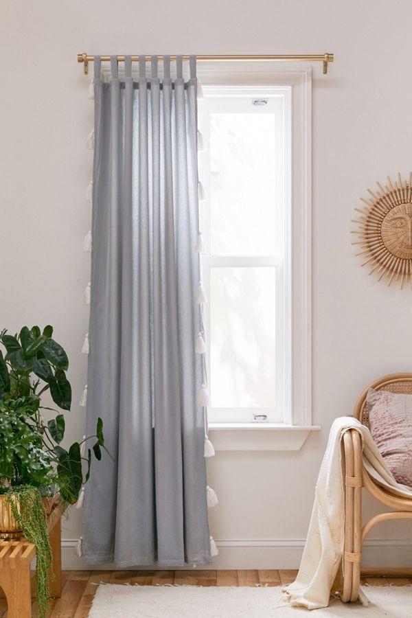 Laura Tassel Room Darkening Window Panel Tassel Curtains Window Panels Urban Outfitters Curtains
