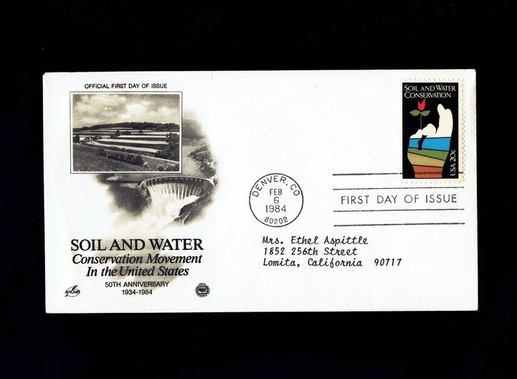 2074 Soil and Water Conservation Feb 6, 1984 Denver CO First Day Cover lot #F2074-1 by VicsStamps on Etsy