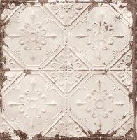 Tapete Fliese Vintage Shabby Rasch Textil grau 022332