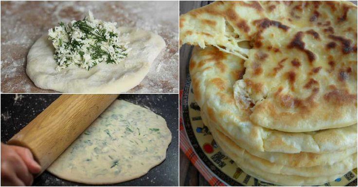 """Dacă vă plac plăcintele, atunci vă recomandăm să încercați această rețetă. """"Hicin"""" sunt plăcinte tradiționale din bucătăria caucaziană, care se prepară din aluat subțire pe bază de chefir și sunt umplute cu brânză și verdeață. """"Plăcintele cu brânză"""" se prepară extrem de rapid și sunt ideale pentru cină – familia va fi încântată de gustul acestor plăcințele delicioase și fragede. Serviți plăcintele fierbinți cu sos picant de iaurt și verdeață. Plăcintecu brânză INGREDIENTE 400 g de făină 1…"""