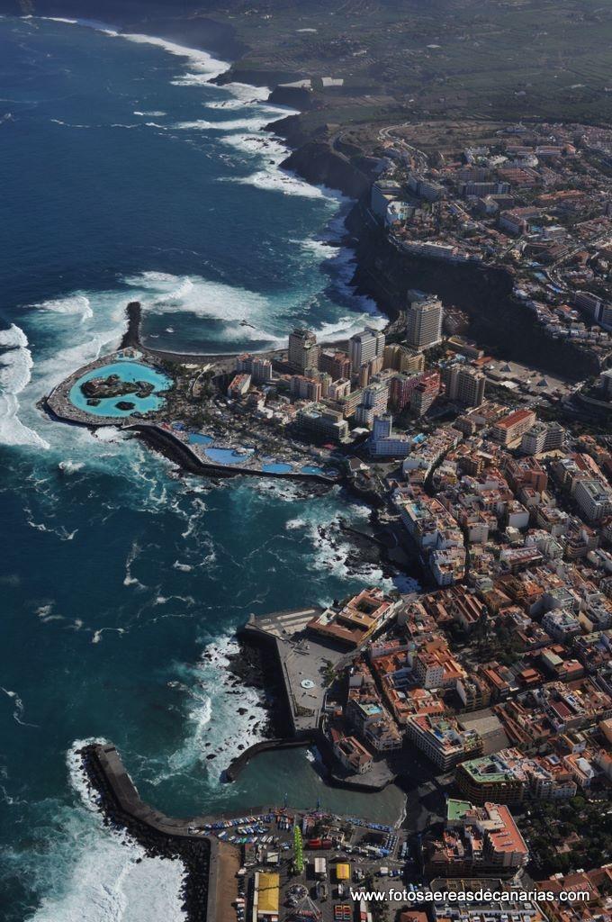 Vista aérea de El Puerto de La Cruz, Tenerife