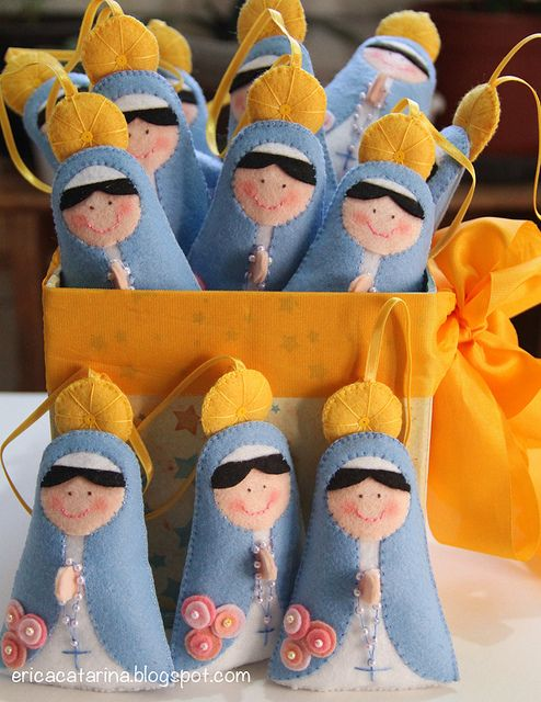 Easy to make felt Blessed Mother