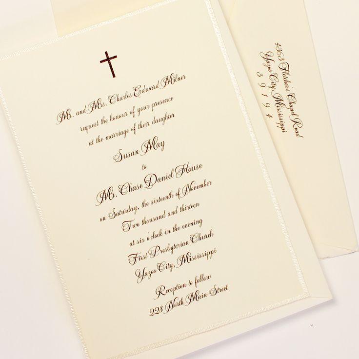 Fresh Ink: Traditional Wedding Invitation