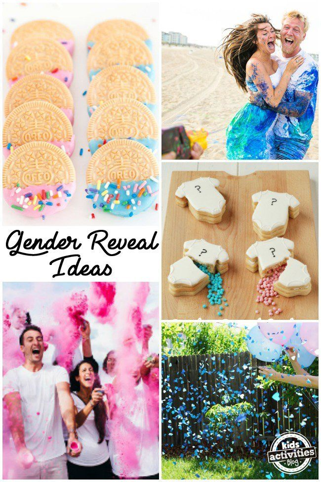16 unique gender reveal ideas - Gender Reveal Baby Shower