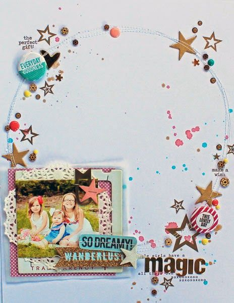 #papercraft #scrapbook #layout.   Magic by mel blackburn for chic tags