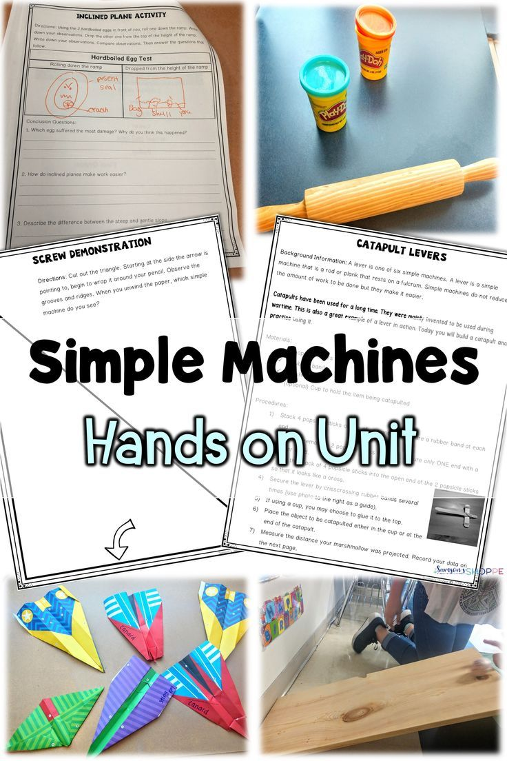 hight resolution of Simple Machines Unit with STEM Projects   Simple machines unit