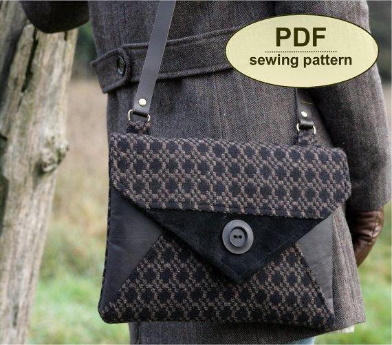 Neu: Schnittmuster Blakeney Clutch Bag - INSTANT DOWNLOAD PDF-Muster machen