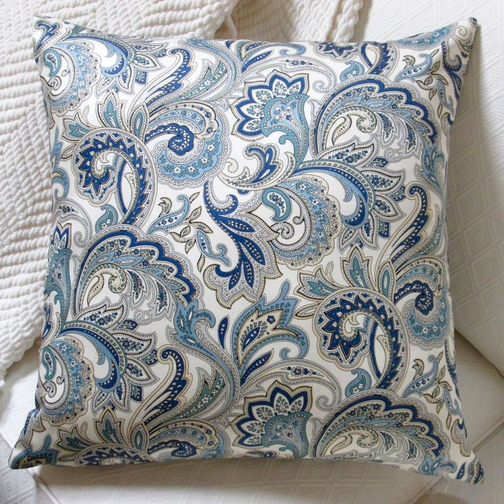 This ivory Montero Lustrous Paisley pillow cover will add a pop of color and style to your home. Made of cotton, this pillow cover features a paisley pattern.