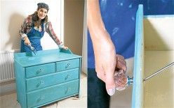 Learn how to paint pine furniture