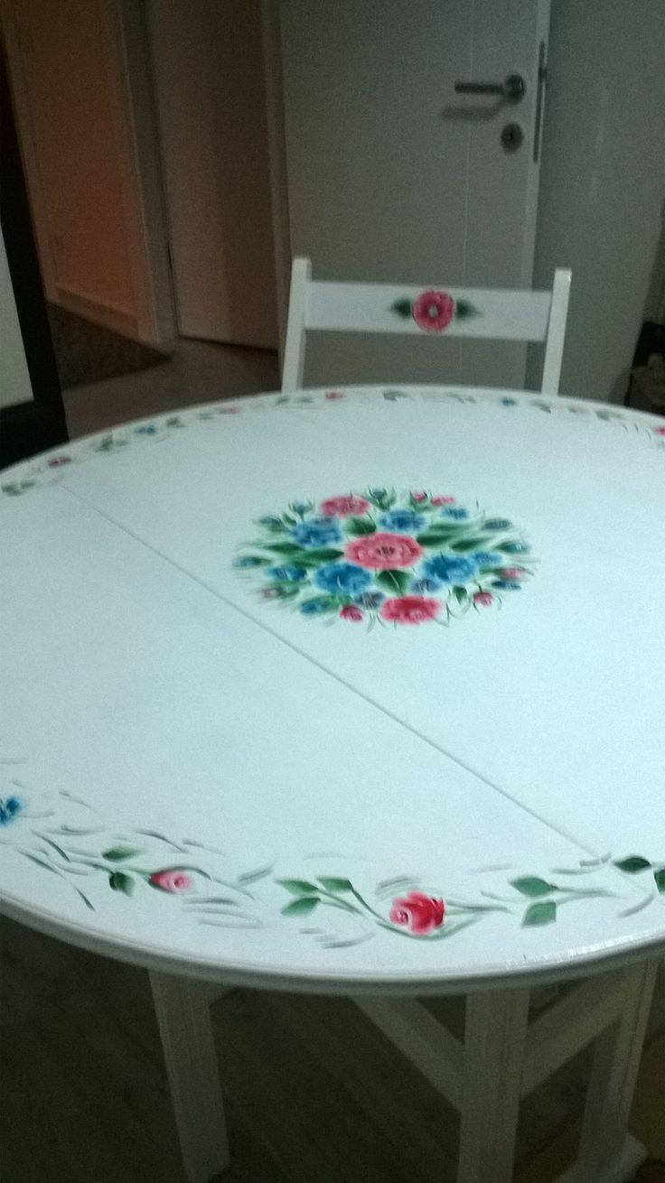 #onestroke #ahşap #boyama #mutfak #masa #elemeği #yeni boyamam #eskiyi #yenileme #mç