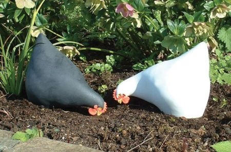 Ceramic Chicken Sculptures.  I LOVE these!!!!!