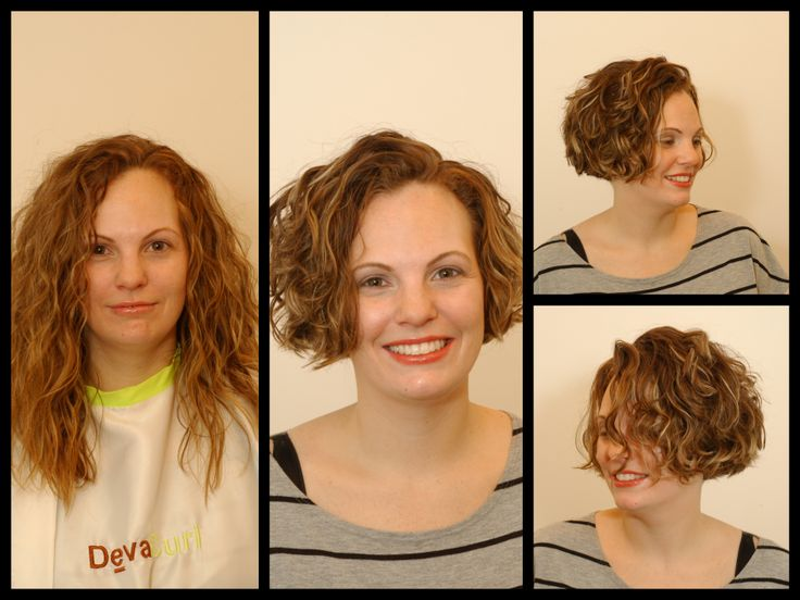 curly hair www.haarmonystudios.com www.christinacurls.com Harmony Salon brings back a younger look with a Curly Deva Dry Cut BOB perfect for her fine texture!  We style her with DevaCurl B'Leave-In and DevaCurl Frizz-Free volumizing Foam.