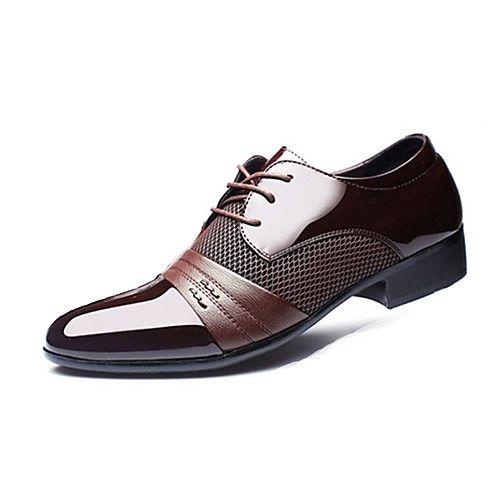 Paseo Primavera Pu Oxfords Hombre Zapatos Otoño Negocios Formales 8vN0Oymwn