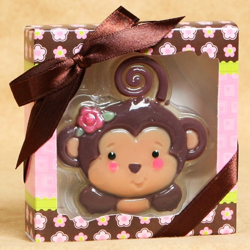 Monkey Girl Soaps - Baby Shower Favors matches my baby room :)