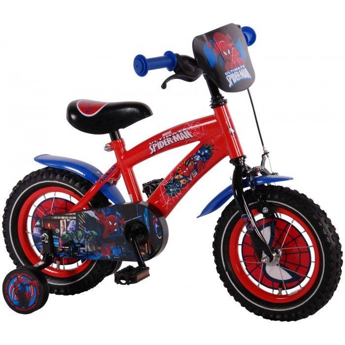 Kleine superhelden in de dop fietsen op de Ultimate Spiderman 12 Rood #kinderfiets #jongen #spiderman Bestel deze fiets op fietsenline.nl