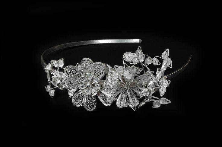 Floral filigree tiara  Material: sterling silver