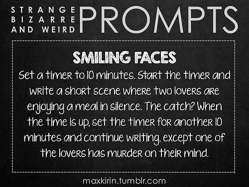 ✐ DAILY WEIRD PROMPT ✐  SMILING FACES
