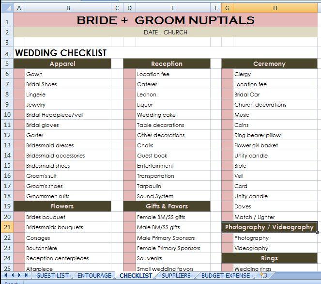 Bride + Groom Checklist #budgetwedding #weddingchecklist