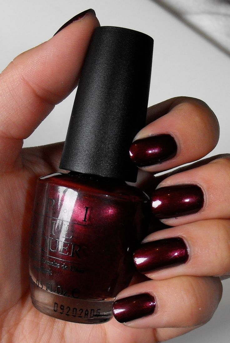 Best 25+ Opi Dark Red Ideas On Pinterest