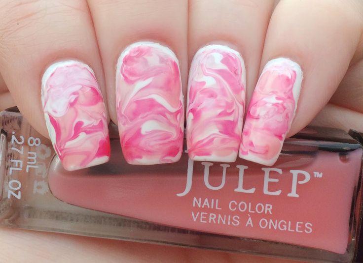 Julep's Carol & Wendy Dry Marble Nail Art