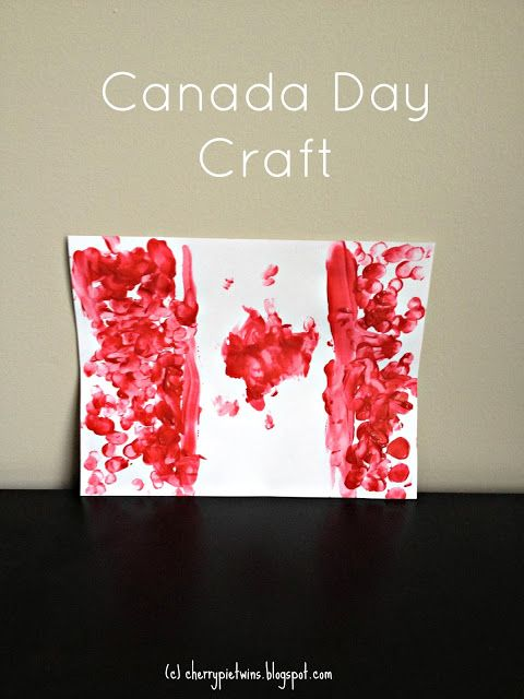 Simple Canada Day craft for toddlers and preschoolers