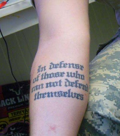 Pictures of Military Quotes And Sayings Tattoos - #rock-cafe