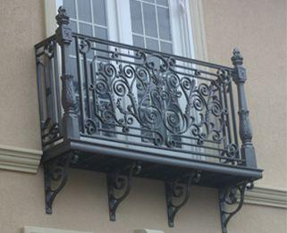 "Charming French cast aluminum ""Juliette"" balcony."