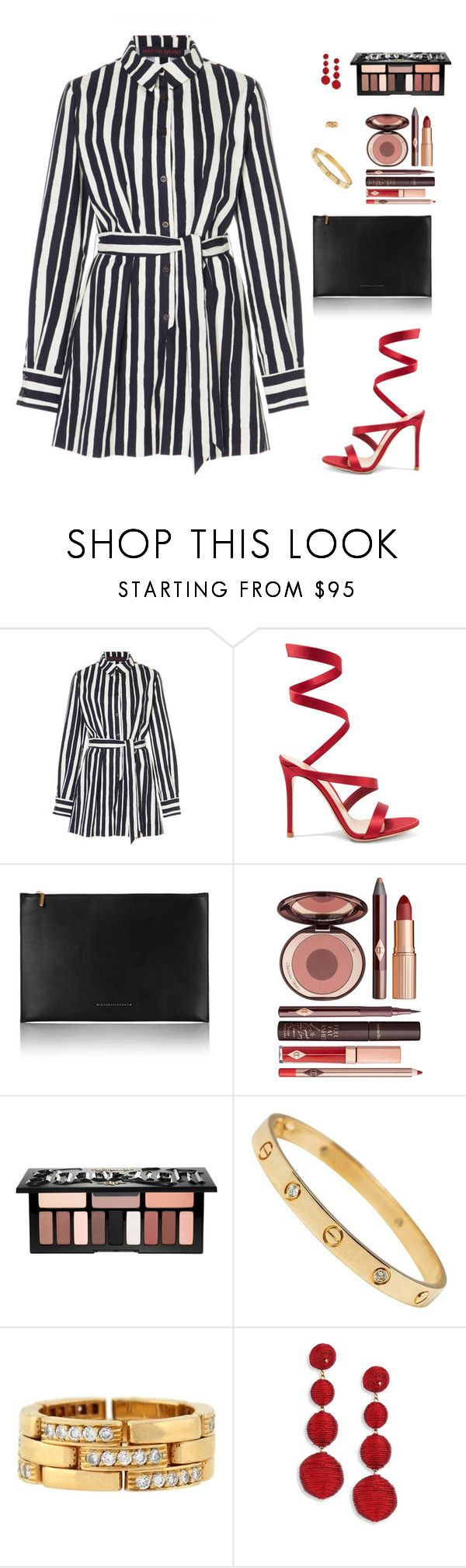 """Untitled #5037"" by mdmsb on Polyvore featuring Martin Grant, Gianvito Rossi, Victoria Beckham, Charlotte Tilbury, Kat Von D, Cartier and Kenneth Jay Lane"