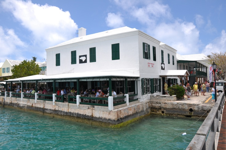 White Horse Tavern in St. George, Bermuda - always a 'must' when we arrive