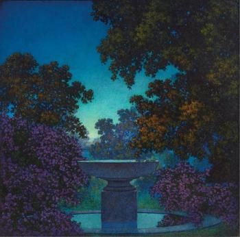 Art History News: Maxfield Parrish at Auction - Blue Fountain