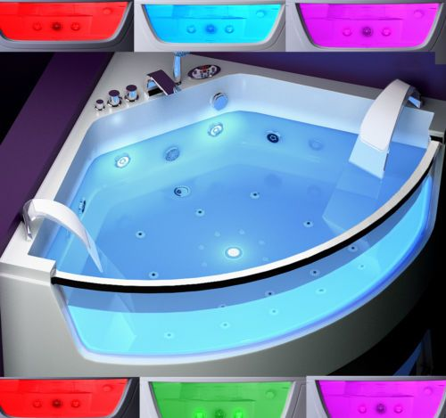 details zu whirlpool badewanne eckbadewanne whirlpool. Black Bedroom Furniture Sets. Home Design Ideas