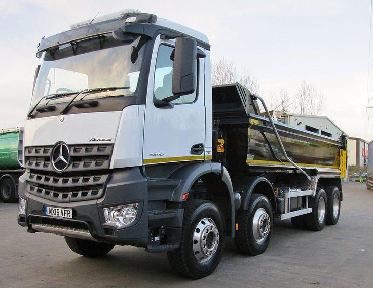 German engineering Mercedes Arocs 3240 tipper March 2015 5